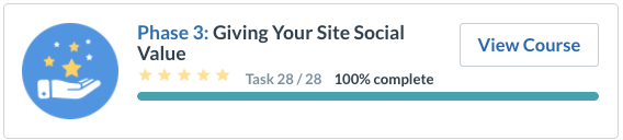 Giving your site social value