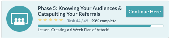 Knowing your audiences & catapulting  your referrals