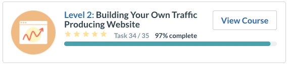 building your own traffic producing website